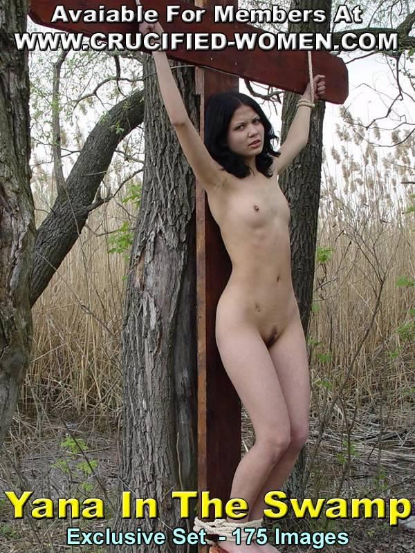 питки связиной привязинай к столбу голай девушки